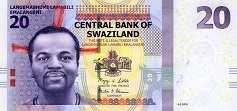 Свазиленд: 20 эмалангени 2010-17 г.