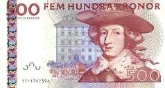 Швеция: 500 крон (2001-12 г.)