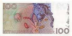 Швеция: 100 крон (1986-2000 г.)
