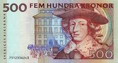 Швеция: 500 крон (1989-2000 г.)