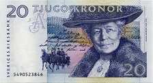 Швеция: 20 крон (1991-95 г.)