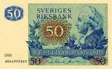 Швеция: 50 крон 1965-90 г.