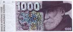 Швейцария: 1000 франков 1977-93 г.
