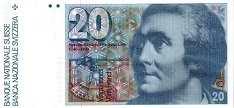 Швейцария: 20 франков 1978-92 г.