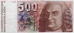 Швейцария: 500 франков 1976-92 г.