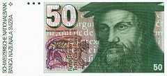 Швейцария: 50 франков 1978-88 г.