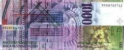 Швейцария: 1000 франков 1996-2012 г.