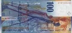 Швейцария: 100 франков 1996-2014 г.