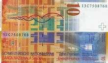 Швейцария: 10 франков 2000-13 г.