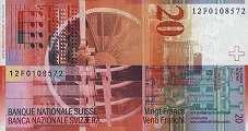 Швейцария: 20 франков 2000-14 г.
