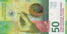 Швейцария: 50 франков 2015 г.