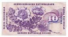 Швейцария: 10 франков 1955-77 г.