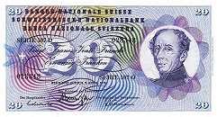 Швейцария: 20 франков 1954-76 г.