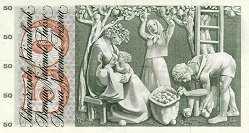 Швейцария: 50 франков 1961-74 г.