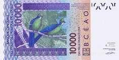 Того: 10000 франков CFA-BCEAO 2003-17 г.