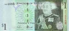 Тонга: 1 паанга (2008 г.)