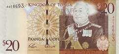 Тонга: 20 паанга (2008 г.)