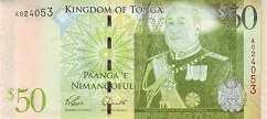 Тонга: 50 паанга (2008 г.)