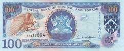 Тринидад и Тобаго: 100 долларов 2009 г. (юбилейная)