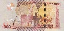 Уганда: 1000 шиллингов 2010-17 г.