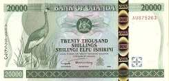 Уганда: 20000 шиллингов 1999-2002 г.