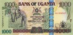 Уганда: 1000 шиллингов 2005-09 г.