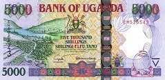 Уганда: 5000 шиллингов 2004-09 г.