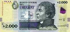 Уругвай: 2000 песо 2015 г.