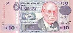 Уругвай: 10 песо 1998 г.