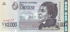 Уругвай: 2000 песо 2003 г.