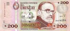 Уругвай: 200 песо 2006-11 г.
