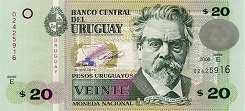 Уругвай: 20 песо 2008-11 г.