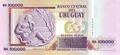 Уругвай: 100000 песо 1991 г.