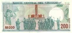 Уругвай: 200 песо 1986 г.
