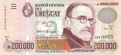 Уругвай: 200000 песо 1992 г.