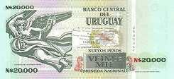 Уругвай: 20000 песо 1989-91 г.