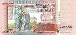 Уругвай: 2000 песо 1989 г.