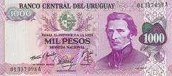 Уругвай: 1000 песо (1974 г.)