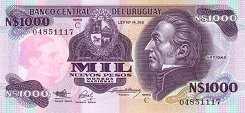 Уругвай: 1000 песо (1991 г.)
