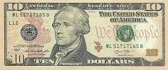 США: 10 долларов 2013 г.