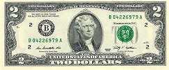 США: 2 доллара 2009 г.