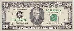 США: 20 долларов 1988 г.