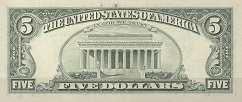 США: 5 долларов 1988 г.
