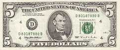 США: 5 долларов 1995 г.