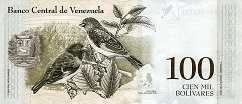 Венесуэла: 100000 боливаров 2017 г.