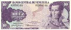 Венесуэла: 10 боливаров 1980 г.