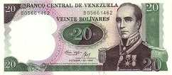 Венесуэла: 20 боливаров (юбилейная) 1987 г.