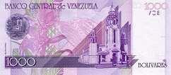 Венесуэла: 1000 боливаров 1998 г.