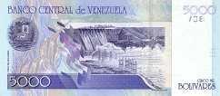 Венесуэла: 5000 боливаров 2000-04 г.