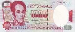 Венесуэла: 1000 боливаров 1991-98 г.